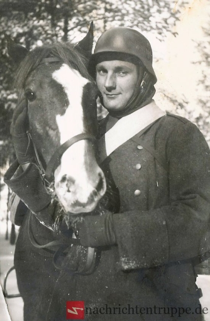 Wehrmacht Soldier with his horse