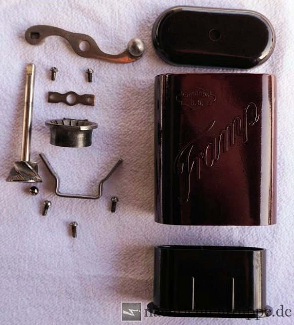 All parts of the Tramp Coffee Grinder